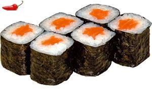 Саке Маки с острым лососем