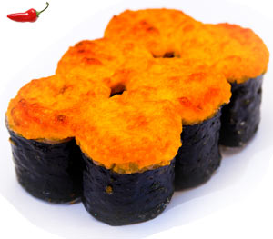 Яки-ролл с лососем (острый)