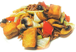 """Жареные овощи с тофу и лапшой """"Соба"""""""