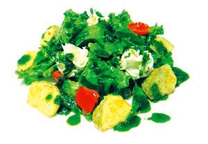 Салат из цукини с крем-сыром